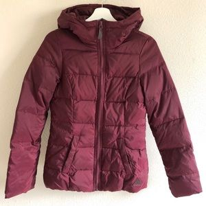 H&M Burgundy Hooded Puffer Jacket